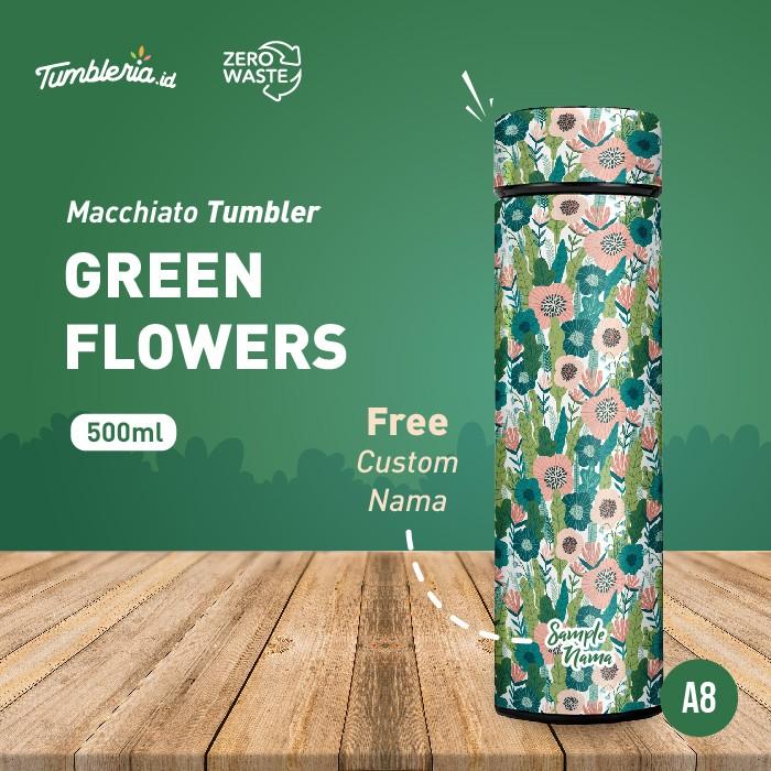Foto Produk Macchiato Tumbler I Green Flowers dari Bogorprint Express