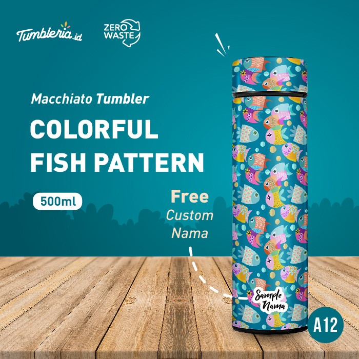 Foto Produk Macchiato Tumbler I Colorful Fish Pattern dari Bogorprint Express