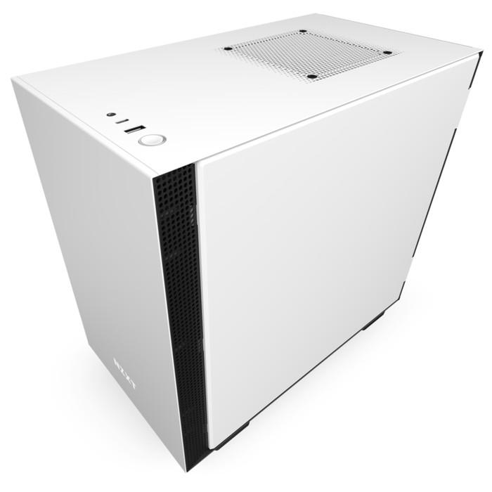 Foto Produk NZXT H210 Matte White Tempered Glass Mini-ITX Gaming Case dari A-10 Store