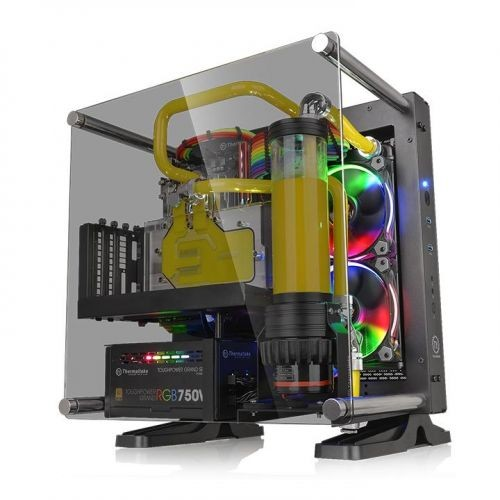 Foto Produk Casing THERMALTAKE Core P1 TG Black/Wall Mount/SGCC/Tempered Glass dari A-10 Store