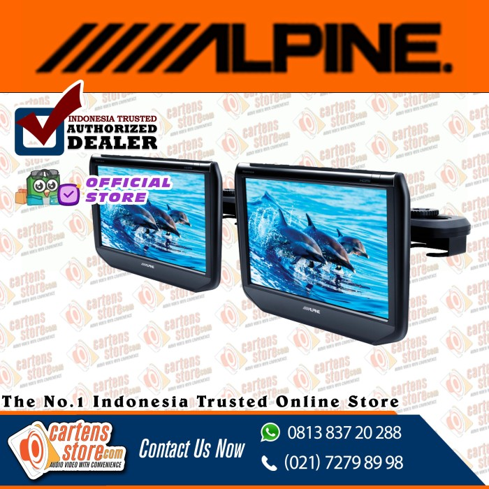 "Foto Produk Alpine 9"" Headrest Monitor SSA9ST by Cartens Audio dari Cartens Store"