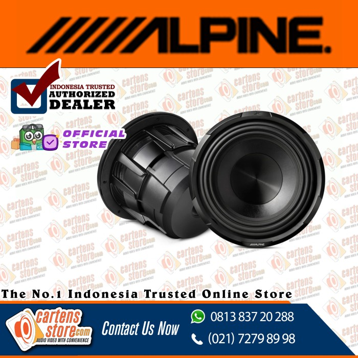 "Foto Produk Alpine Subwoofer 10"" X-W10D4 by Cartens Audio dari Cartens Store"