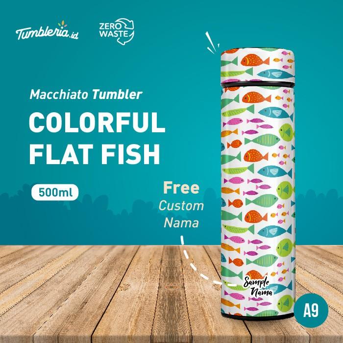 Foto Produk Macchiato Tumbler I Colorful Flat Fish dari Bogorprint Express