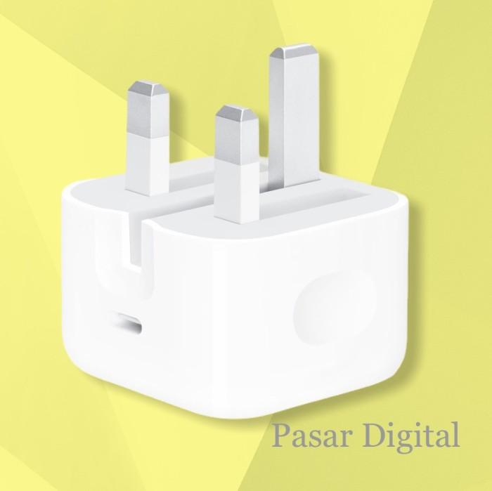 Foto Produk Adaptor Apple Ipad Pro Iphone USB Type C 3A 18W Fast Charging UK plug dari Pasar Digital