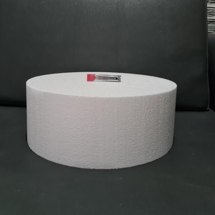 Foto Produk D40x15cm Gabus Styrofoam Bulat Dummy Cake dari ken-z