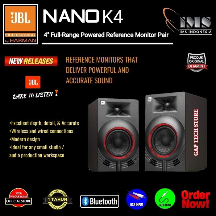 "Foto Produk JBL NANO K4 / NANOK4 4"" Professional SQ Studio Monitor Speakers dari GAP TECH STORE"