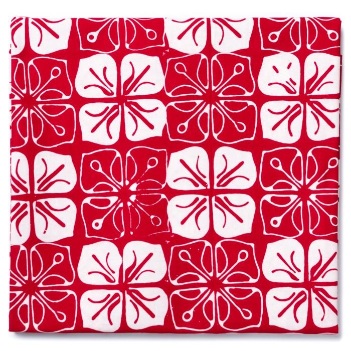 Foto Produk Kain Batik Cap Garutan Motif Ceplok Melati - Merah dari Kainusa