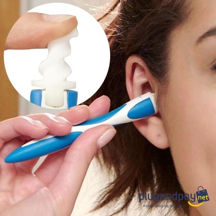 Foto Produk Smart Swab Pembersih Telinga Portable Korek Kuping Ear Wax Removal dari plugandpay