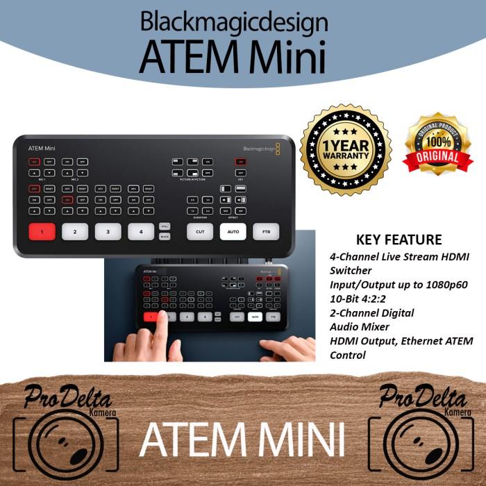 Jual Atem Mini Blackmagic Design Hdmi Live Stream Switcher Kota Surabaya Prodelta Tokopedia