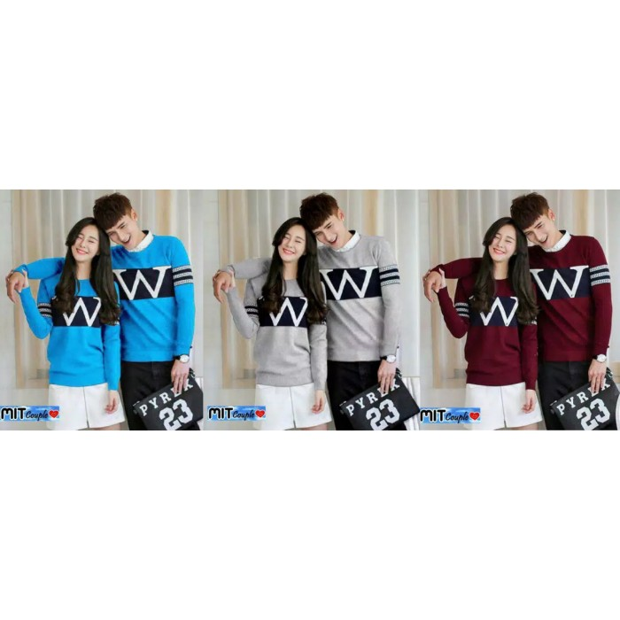 Foto Produk Sweater Couple LP Wonder dari Wallsticker shop