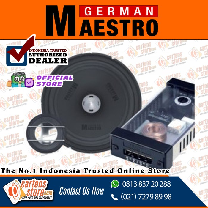 Foto Produk German Maestro 3 Way Active SV 4009 + SW 6509 by Cartens Audio dari Cartens Store