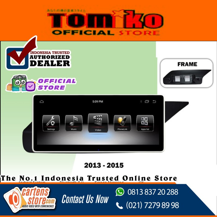 Foto Produk Head unit Android Tomiko OEM for Mercedez W211/W212 by Cartens Audio dari Cartens Store