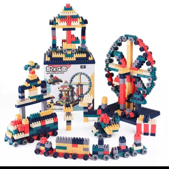 Foto Produk Mainan anak Balok susun dengan Plat legoo/Building block 360pcs dari AUTO KID II