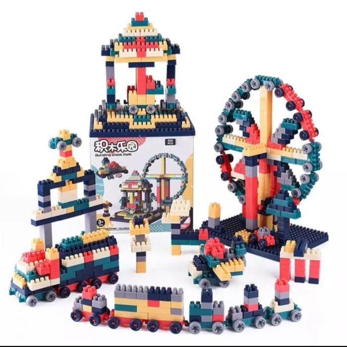 Foto Produk Mainan anak Balok susun lengkap dgn plat legoo/Building Blok 260pcs dari AUTO KID II
