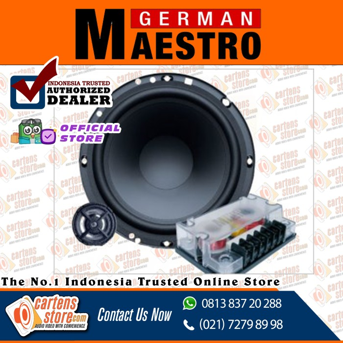 "Foto Produk German Maestro 2 Way Speaker 6"" AS 6508 by Cartens Audio dari Cartens Store"