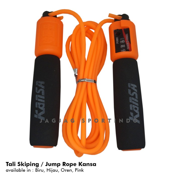 Foto Produk TALI SKIPPING JUMP ROPE COUNTER KANSA - Orange dari JAGJAG SPORTINDO