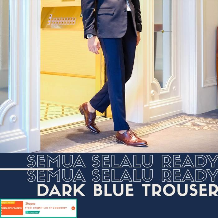 Foto Produk Celana bahan formal pria / trouser (dark blue) - 27 dari Froyemul