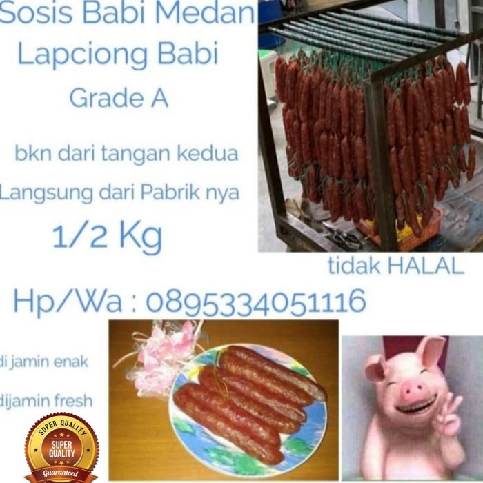 Jual Sosis Babi Lapchiong 1 2 Kgasli Medan Grade A Paling Murah Readyyyyy Kota Tangerang Fast Action 88 Tokopedia