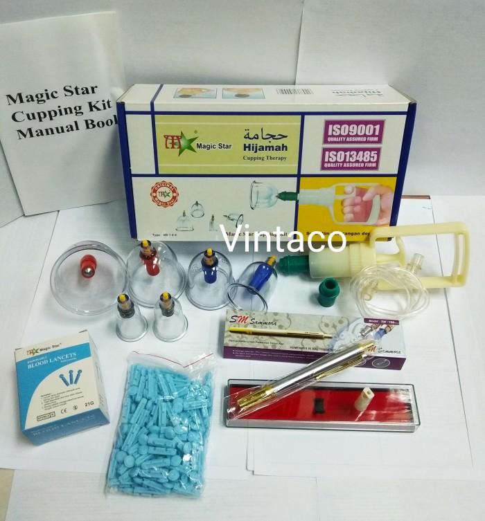 Foto Produk Paket Hemat Kop Bekam Magicstar isi 6 + Pen Bekam SS SM 158 + JARUM dari Vintaco