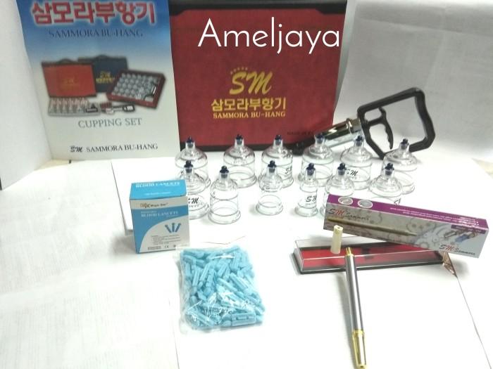 Foto Produk Paket Hemat Kop Bekam Sammora Premium isi 12 + Pen Bekam 158 + Jarum dari Vintaco