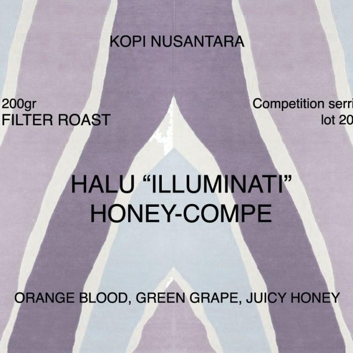 "Foto Produk roasted coffee bean Arabica Halu ""illuminati"" honey 200gr dari koffiesome"