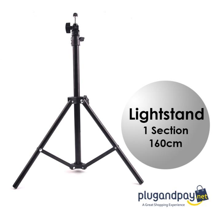 Foto Produk Light Stand Tripod 1 Section 160cm for Studio Lighting Flash dari plugandpay
