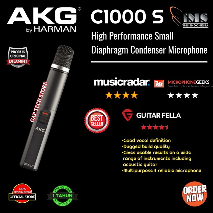 Foto Produk AKG C1000 S / C 1000 S / C1000S High Performance Condenser Microphone dari GAP TECH STORE