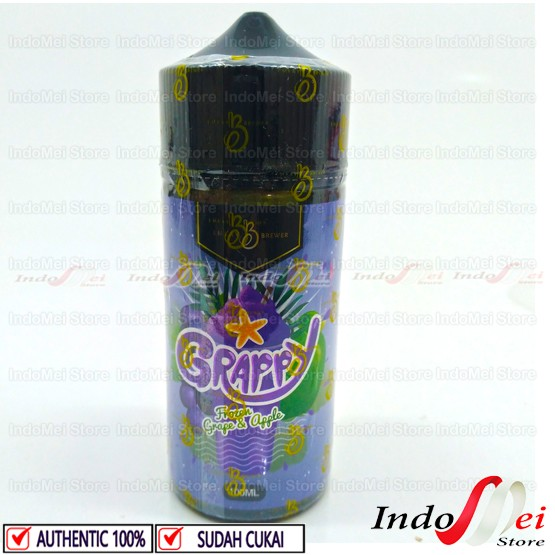 Foto Produk GRAPPY GRAPY FROZEN 100ML - 3MG PREMIUM LIQUID VAPOR VAPE BEST SELLER dari Indomei Store