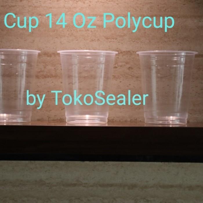 Foto Produk Gelas Plastik PolyCup - 14 Oz khusus kurir instant dari tokosealer