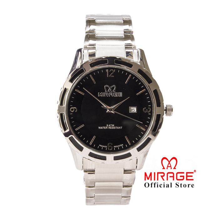 Foto Produk Jam Tangan Pria Office Casualwear Formal Mirage Silver Original 8309M dari Mirage Watch