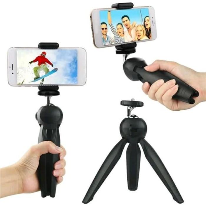 Foto Produk Tripod YT-228 Mini + Holder Universal Yunteng Portable Stand Handphone dari AnerStore