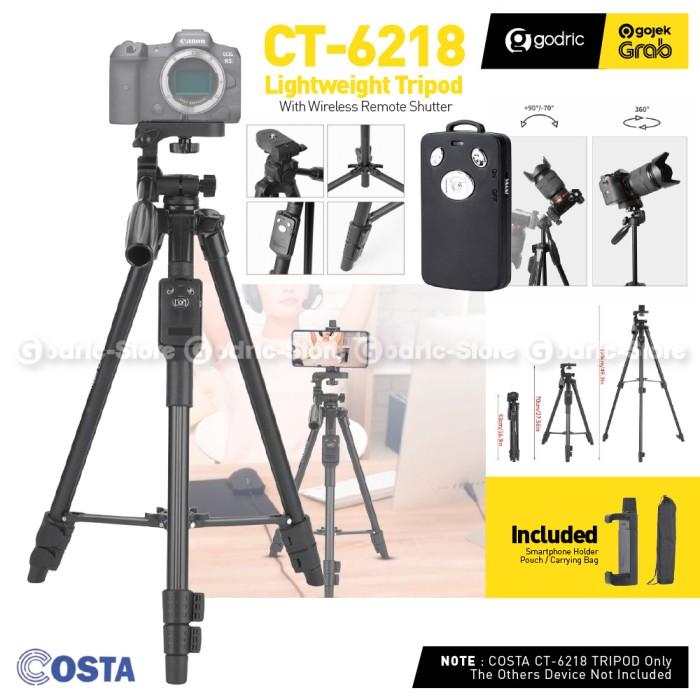 Foto Produk COSTA CT-6218 Tripod Smartphone / Kamera w Wireless Remote & Holder HP dari Godric Store