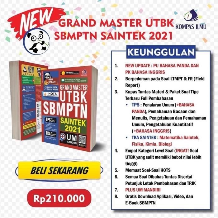 Jual Buku Sbmptn 2021 Grand Master Utbk Sbmptn Saintek 2021 Ori Kota Yogyakarta Kampus Buku Tokopedia