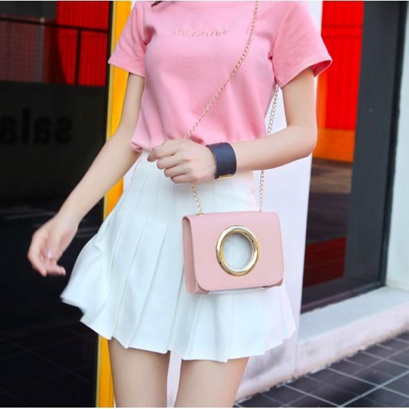Korea Fashion Style Hitam Perempuan Wanita Tas Kecil Mini