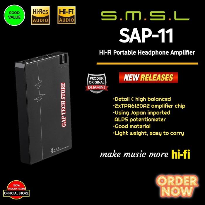 Foto Produk SMSL SAP 11 / SAP11 Hi-Fi Portable Headphone Amplifier Original dari GAP TECH STORE