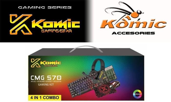 Foto Produk Gaming Starter Kit 4 in 1 KOMIC CMG570 Keyboard Mouse Headset mousepad dari haga komputer