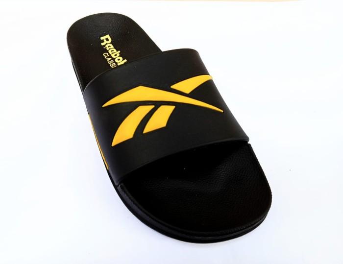 Foto Produk Sandal Slide Rebook Sendal Slop Pria - Hitam Kuning, 40 dari Fahry 307shop