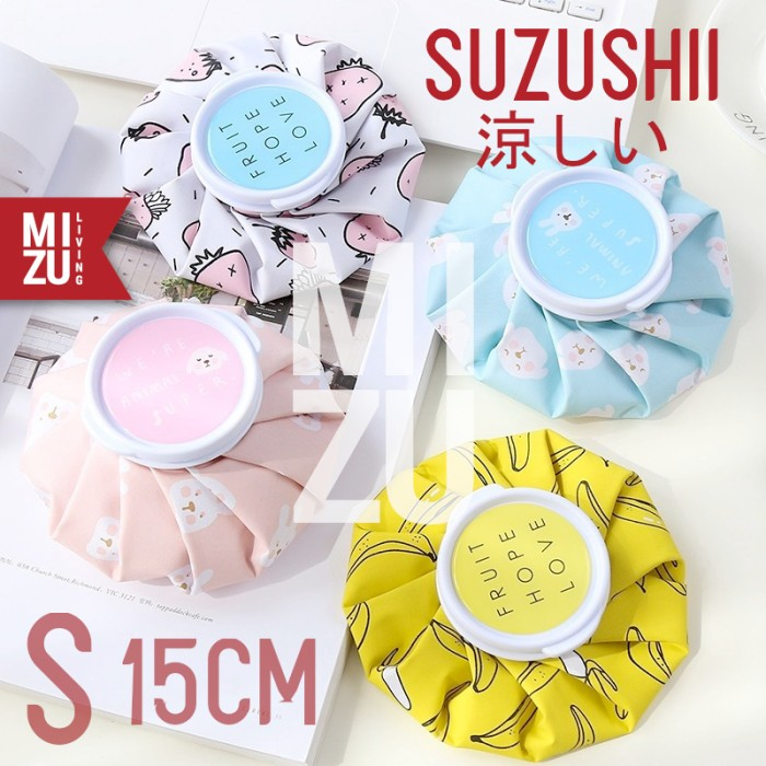 Foto Produk MIZU SUZUSHII S 15cm Cold Compress Ice Bag Hot Pack Kantong Kompres Es - PINK RABBIT dari MIZU Living