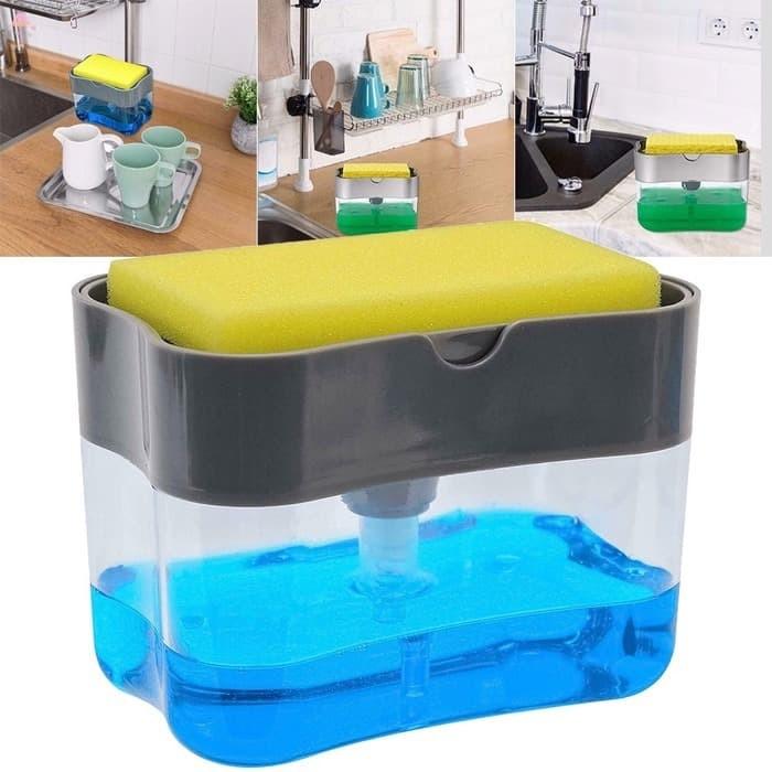 Foto Produk Soap Pump Holder Spons Dispenser Sabun Peralatan Dapur Tempat sabun dari AnerStore