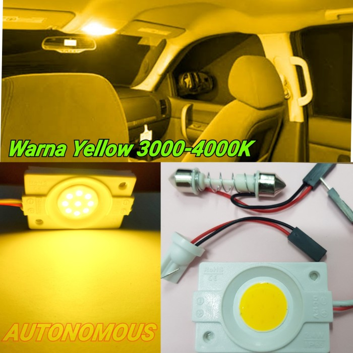 Foto Produk lampu led kabin plafon mobil Cob 24 titik Warm white ELEGANT OEM dari AUTONOMOUS