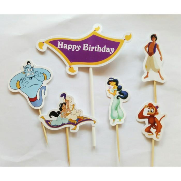 Foto Produk satu set topper toper cake hiasan kue ulang tahun karakter aladin dari recht shop