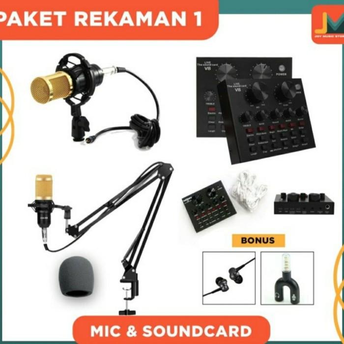 Foto Produk MIC BM 800 SOUNDCARD V8 PAKET LENGKAP REKAMAN dari JakartaUndercover.id