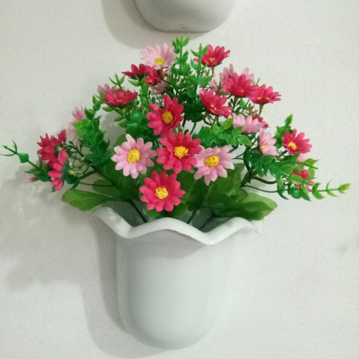 Jual Bunga Aster Mini Hiasan Dinding Vas Tempel Kota Depok Angela Flowers Tokopedia