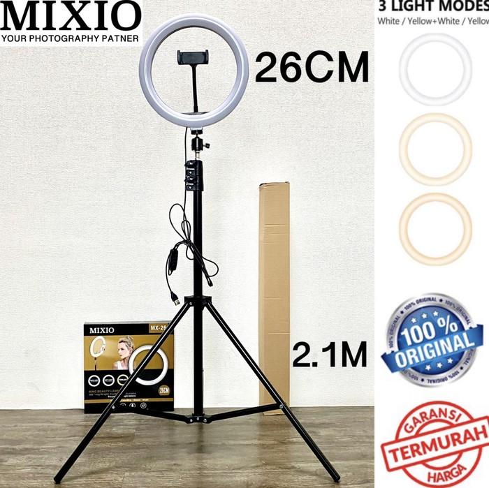 Foto Produk Ring Light 26cm + Light Stand Tripod 2M Selfie Vlogger Livestreamer dari evencio shop
