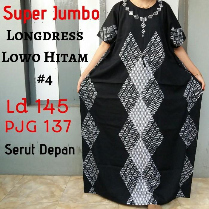 Foto Produk LONGDRESS KELELAWAR DASTER LOWO HITAM SUPER JUMBO REALPICT MURAH ADEM dari Meiza Batik