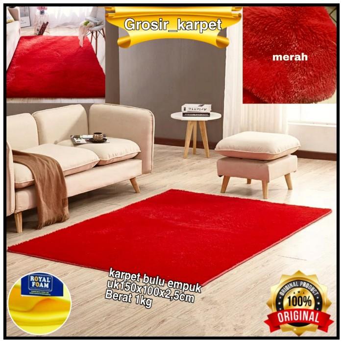 Jual karpet/matras bulu uk 150x100x2cm - Hitam - Kab ...