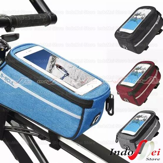Foto Produk B-SOUL Mobil Phone Bag HP Holder for Bika Tas HP untuk Sepeda dari Indomei Store