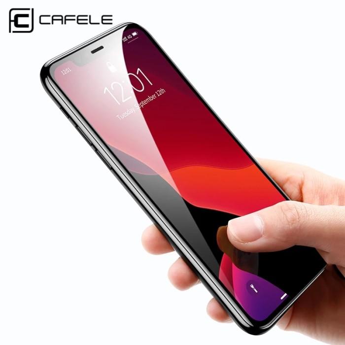 Foto Produk Cafele 9D Edge Screen Protector For IPhone 11/11 Pro/11 Pro Max - iPhone 11 dari Black_ID