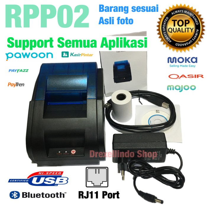 Foto Produk Printer thermal bluetooth RPP02 dari drexellindo shop