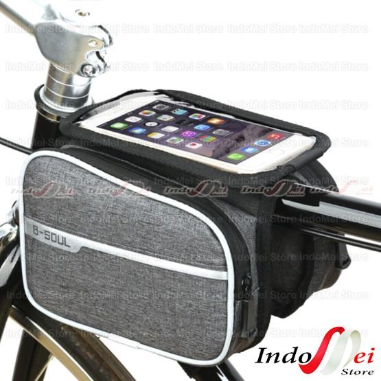 Foto Produk TAS SEPEDA B-SOUL WATERPROOF SMART PHONE dari Indomei Store